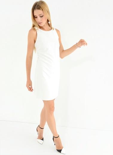Sırtı Tül Detaylı Elbise-People By Fabrika